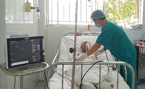 Thai phụ và con gái bị bỏng nặng do nổ bình ga