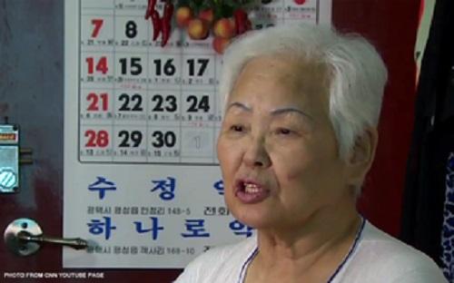 Cụ bà Kim Bok-soon năm nay 77 tuổi. Cụ có bệnh nền hen suyễn mãn tính trước khi nhiễm MERS song vẫn hồi phục khỏe mạnh. Ảnh: CNN