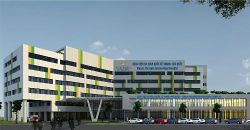 Bệnh viện Đa khoa Quốc tế Vinmec Phú Quốc có diện tích xây dựng 19.000 m2.