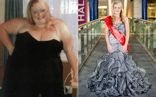Cheryl Blythe trước và sau khi giảm cân. Ảnh: Telegraph.