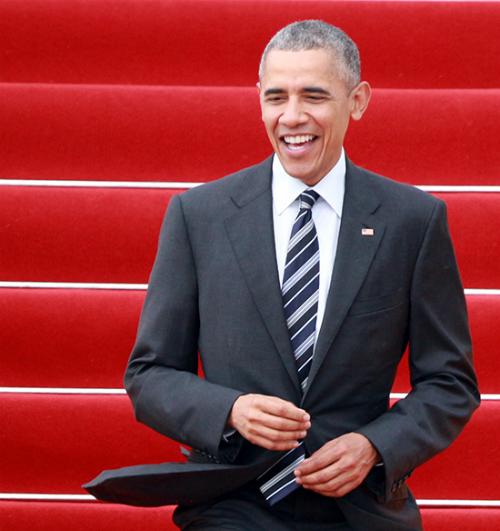 Tổng thống Obama đến thăm TP HCM. Ảnh: VNE