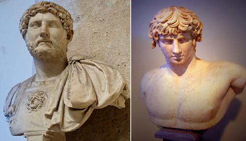 Hadrianus và Antinous (Tượng bán thân tại Bảo tàng khảo cổ Athen)