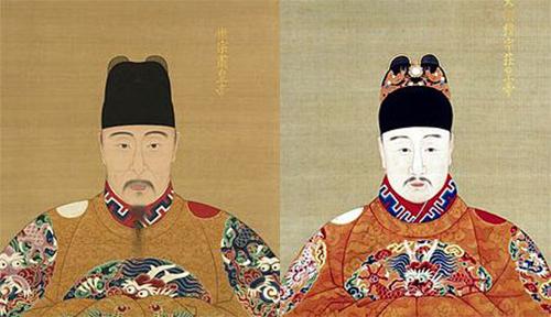 Hoàng đế Minh Thế Tông và Minh Mục Tông. Ảnh: Health Sina.