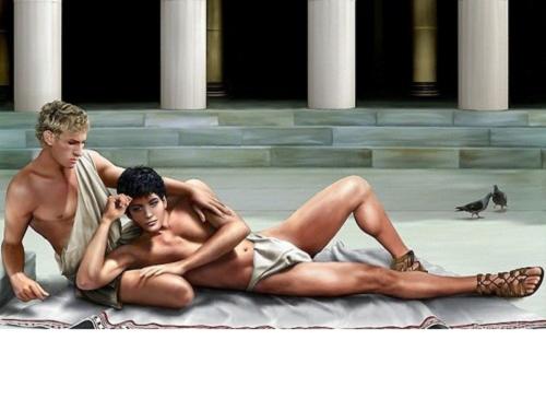 Alexander đại đế và người tình Hephaestion (Ảnh minh họa T.T)