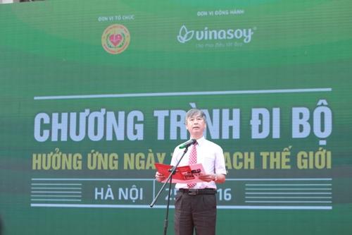 Giáo sư, Tiến sĩ, bác sĩĐỗ Doãn Lợi cảnh báonguy cơ trẻ hóabệnh tim mạch tại lễ phát động ngày hội đi bộ hưởng ứngngày Sức khỏeTim mạch Thế Giới 2016 tại Hà Nội