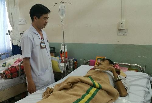 Bệnh nhân hồi phục tốt sau can thiệp. Ảnh: N.T