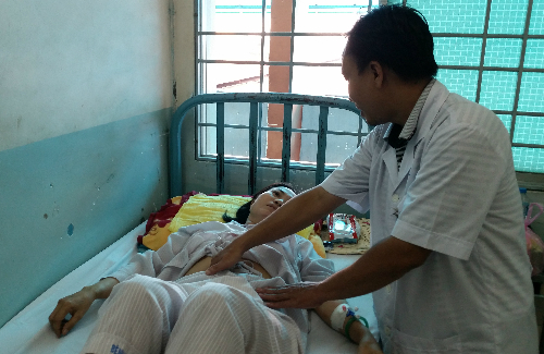 Bệnh nhân hồi phục sau khi phẫu thuật. Ảnh: T.N