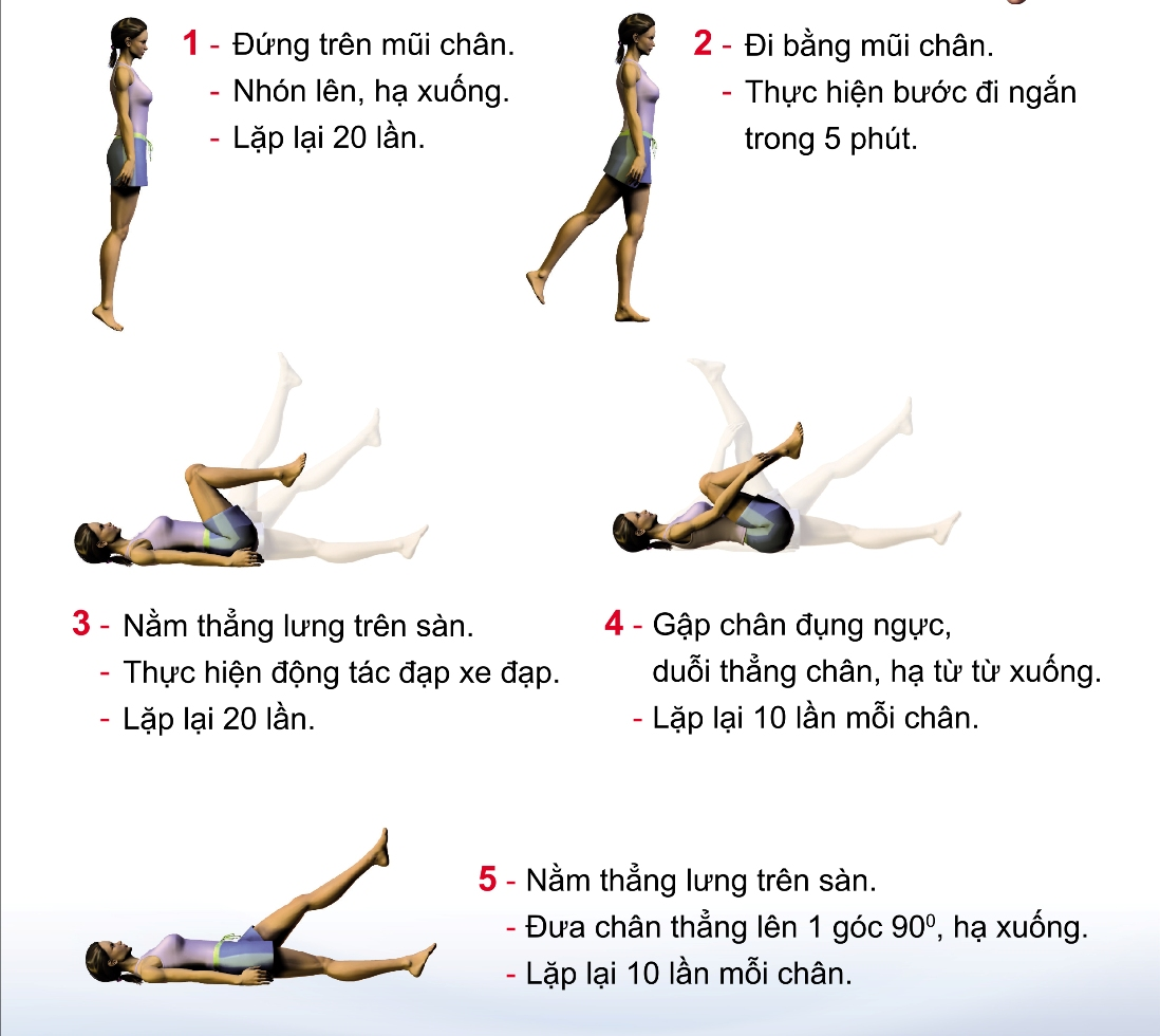 5 bài tập đơn giản giúp đôi chân khỏe đẹp