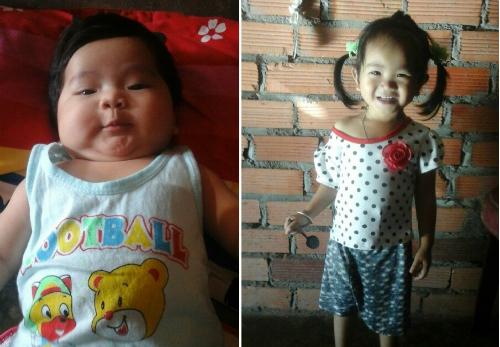 Hai đứa con gái 3 tuổi và 3 tháng phát triển khỏe mạnh là tài sản vô giá của Vỹ. Ảnh nhân vật cung cấp.