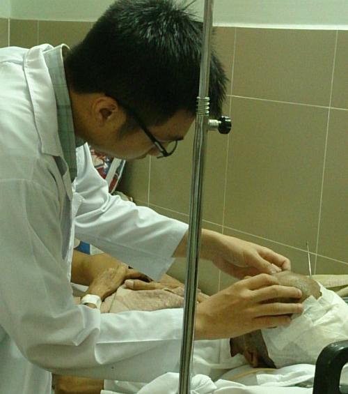 Bệnh nhân hồi phục tốt sau mổ. Ảnh: N.D