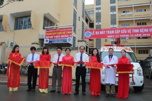Khánh thành Trạm cấp cứu vệ tinh 115 thứ 20 tại BV quận 4. Ảnh: SYT