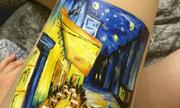 Bị trầm cảm, thiếu nữ vẽ tranh Van Gogh lên đùi thay vì hành xác