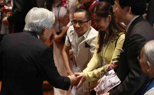 Nguyễn Đức có cơ hội diện kiến Nhật hoàng Akihito tại Hà Nội ngày 2/3.