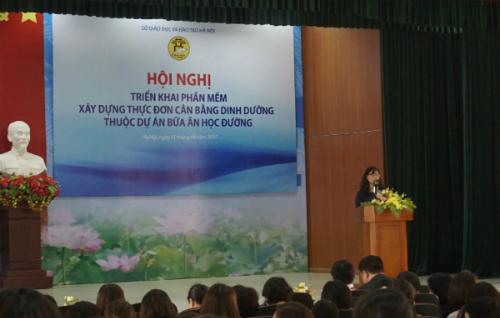 Hội nghị triển khai Phần mềm xây dựng thực đơn cân bằng dinh dưỡng tổ chức ngày 11/4.