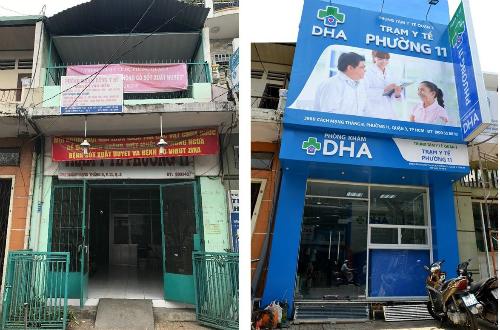 Trạm y tế trước đây và hiện nay. Ảnh: T.P