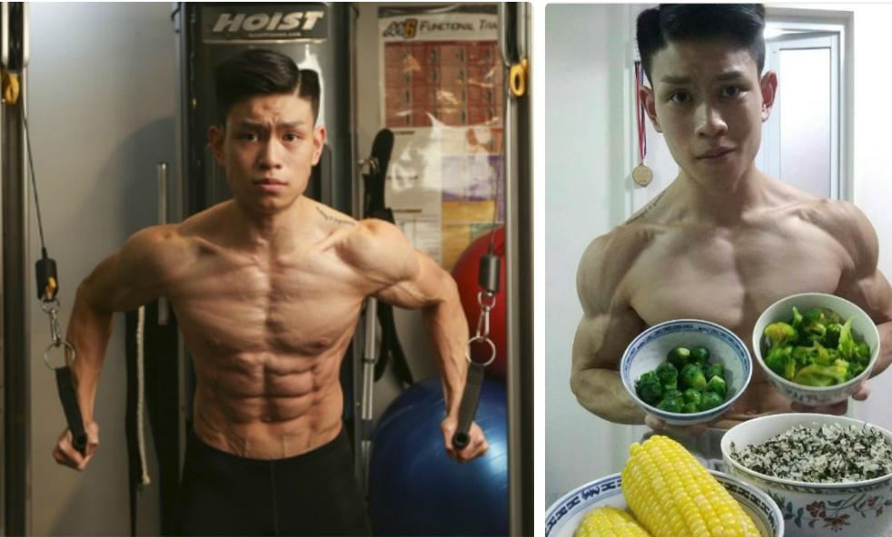 Chàng trai ăn chay trường tập gym giành ngôi vô địch thể hình