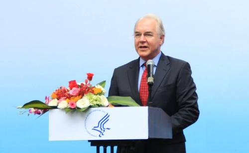 Bộ trưởng Y tế và Dịch vụ con người Mỹ Tom Price. Ảnh: T.D