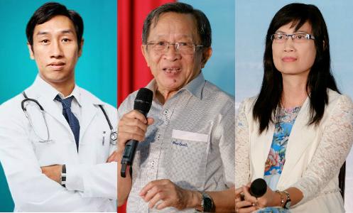 Ba chuyên gia gan mật sẽ tham gia tư vấn trực tuyếntrênVnExpress lúc 14h ngày 15/9.
