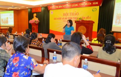 Sự kiện do Cục An toàn Thực phẩm, Hội Chữ thập đỏ TP HCM, Viện Dinh dưỡng Quốc gia tổ chức tại TP HCM mới đây.