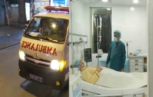 Bác sĩ và bệnh nhân ở viện sẵn sàng trong tâm thế đón nhận túi tế bào gốc vượt đường xa về tới. Ảnh: H.H