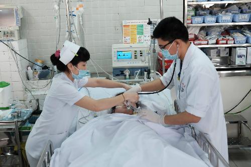 Chị Nhung được điều trị tích cực tại Bệnh viện Chợ Rẫy: Ảnh: L.P