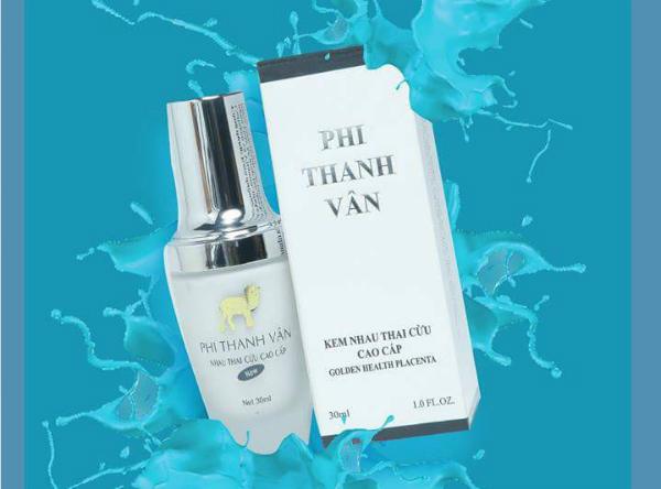 Mỹ phẩm được quảng cáo trên website công ty Phi Thanh Vân.