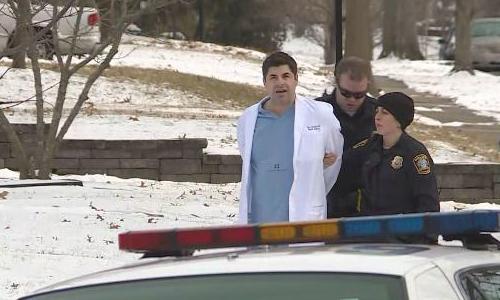 Bác sĩ Gerstle bị bắt sau khi đến bệnh viện trong tình trạng say xỉn. Ảnh: WKYT.