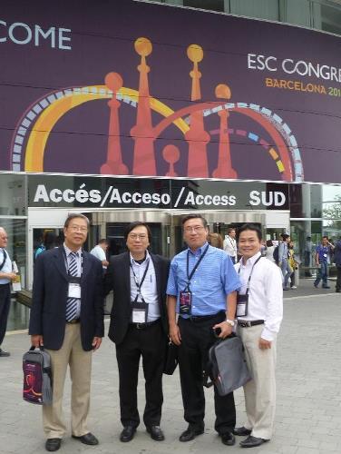 Bác sĩ Hòa cùng các chuyên gia về tim mạch của Việt Nam tham dự hội nghị tim mạch quốc tế. Ảnh: TT.