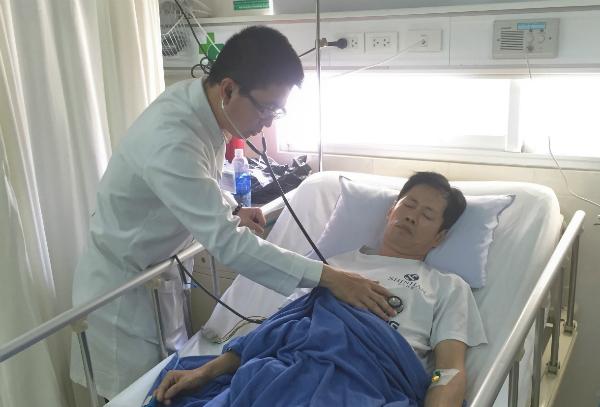 Bệnh nhân hồi phục sau can thiệp. Ảnh: Đ.P