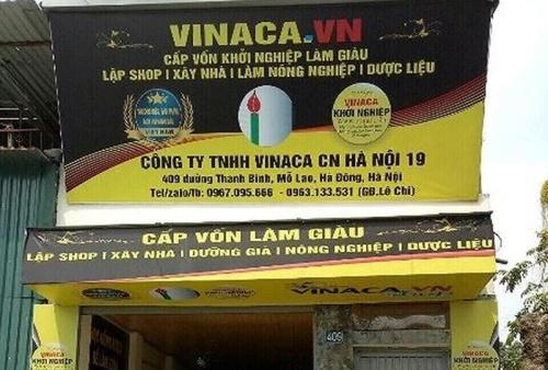 Chi nhánh Công ty TNHH Vinaca tại Hà Nội.