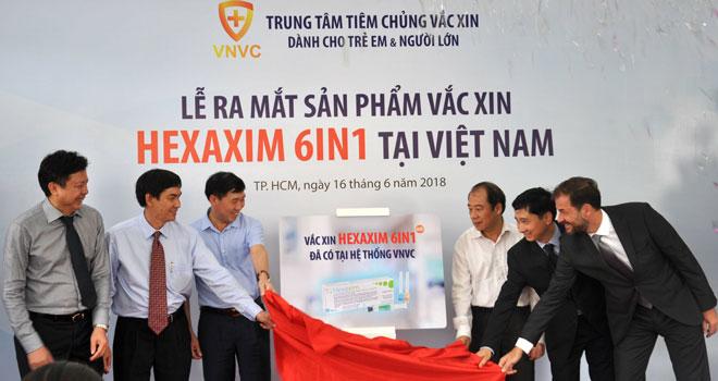 Hệ thống tiêm chủng vắc xin VNVC là đơn vị đầu tiên có văcxin 6 trong 1 Hexaxim.