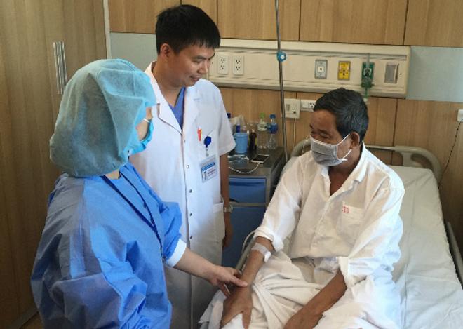 Một bệnh nhân được ghép tạng từngười cho chết não. Ảnh bệnh viện cung cấp.