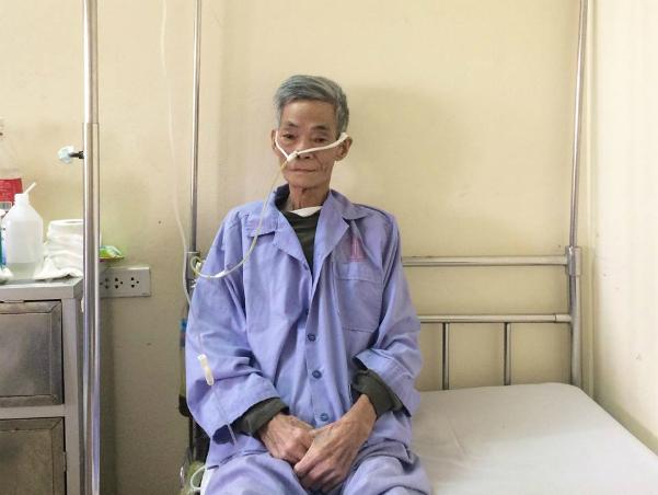 Ông Quynh quyết định hiến giác mạc cứu người sau khi qua đời. Ảnh: Bệnh viện cung cấp.