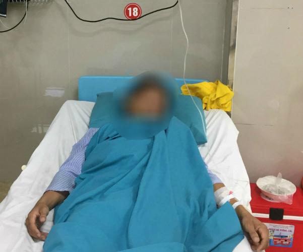 Bệnh nhân bị loạn thần sau khi sử dụng thuốc lắc. Ảnh: L.Q