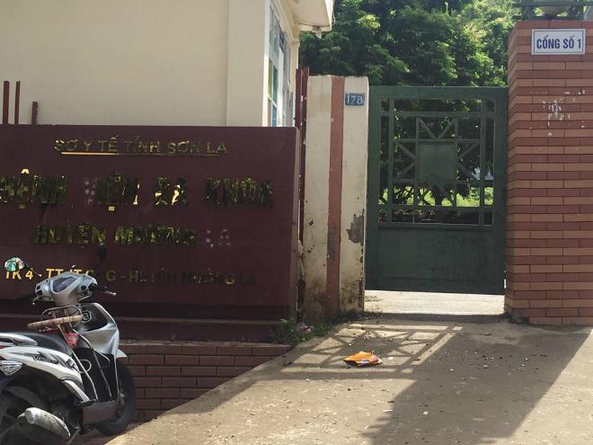 Bệnh viện Đa khoa Mường La, nơi xảy ra vụ việc. Ảnh: N.S