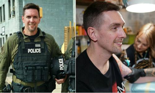 Sau 14 năm cứu hộ ở hiện trường Trung tâm Thương mại Thế giới, sĩ quan Johnny Walker phát hiện bị ung thư đại tràng. Ảnh: MH.