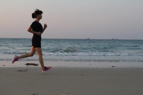 Hiền khỏe khoắn nhờ chạy bộ mỗi sáng. Ảnh: C.K
