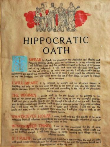 Lời tuyên thệ của Hippocrates.
