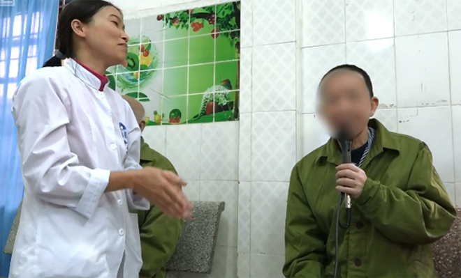 Bệnh nhân đang điều trị tại Bệnh viện Tâm thần Hà Nội. Ảnh: Lê Nga.