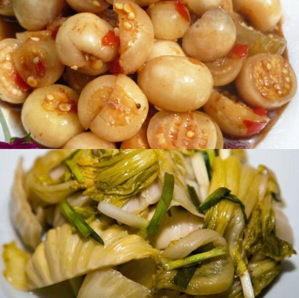 Dưa và cà muối là những món ăn quen thuộc trong bữa cơm người Việt nhưng không phải ai cũng thích hợp để ăn. Ảnh: Cẩm Anh