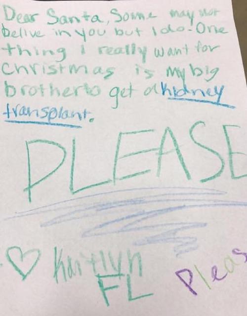 Bức thư Kaitlyn gửi Ông già Tuyết. Ảnh: DM.