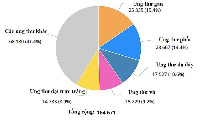 Nam 2018 hon 164.000 nguoi Viet phat hien bi ung thu