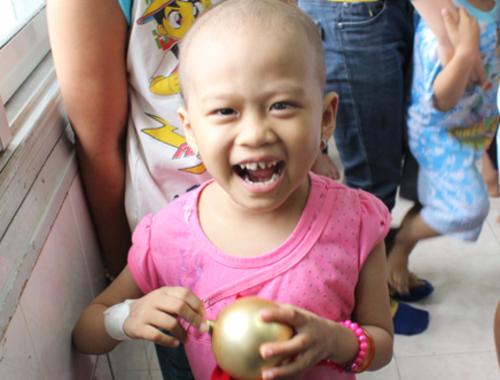 Bệnh nhi điều trị tại Khoa Nội 3, Bệnh viện Ung bướu TP HCM. Ảnh: Lê Phương.