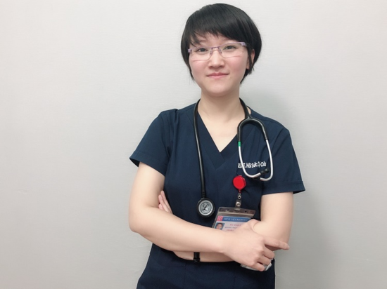 Bác sĩ nội trú nữ Hoàng Thanh Huyền. Ảnh: Thùy An