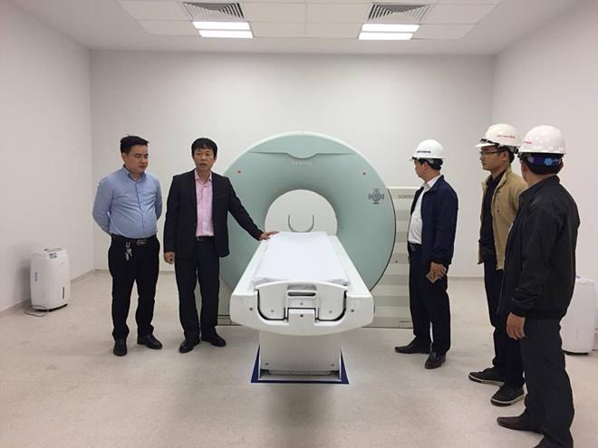 Máy chụp CT được chuyển đến từ cơ sở 1 đã lắp đặt xong. Ảnh: Thế Anh.