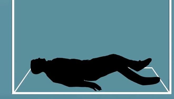 Nằm xuống sàn là tư thế tốt nhất để bảo về bản thân.