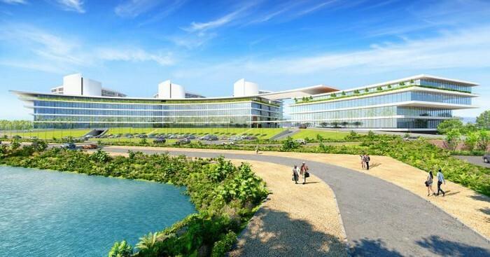 Mô hình tổ hợp y tế và chăm sóc sức khoẻ công nghệ cao tại Đông Anh, Hà Nội. Ảnh: T.H