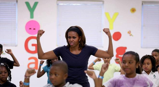 Michelle Obama truyền cảm hứng tập gym - ảnh 1