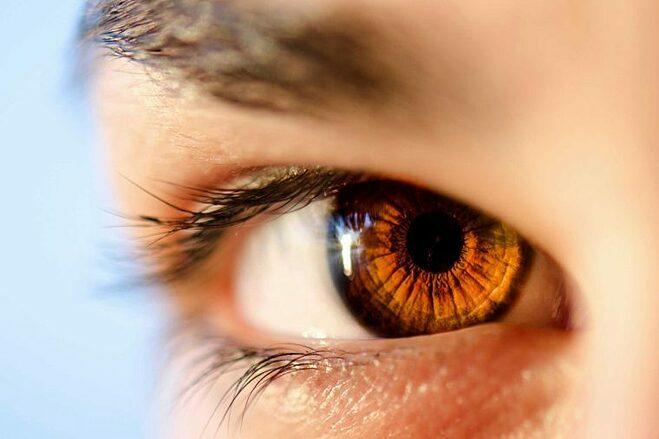 Mống mắt mỗi người có những hoa văn không trùng khớp. Ảnh: Healthy