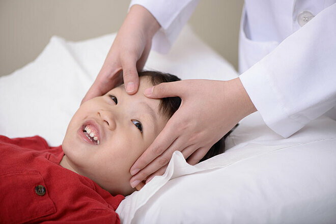 Massage tuina được quảng bá rộng rãi như một hình thức trị liệu dành cho trẻ nhỏ. Ảnh: Ameblo